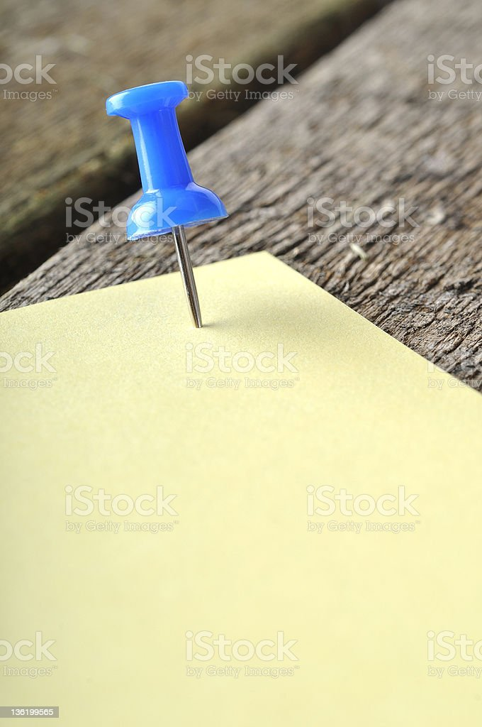 pushpin and postit royalty-free stock photo
