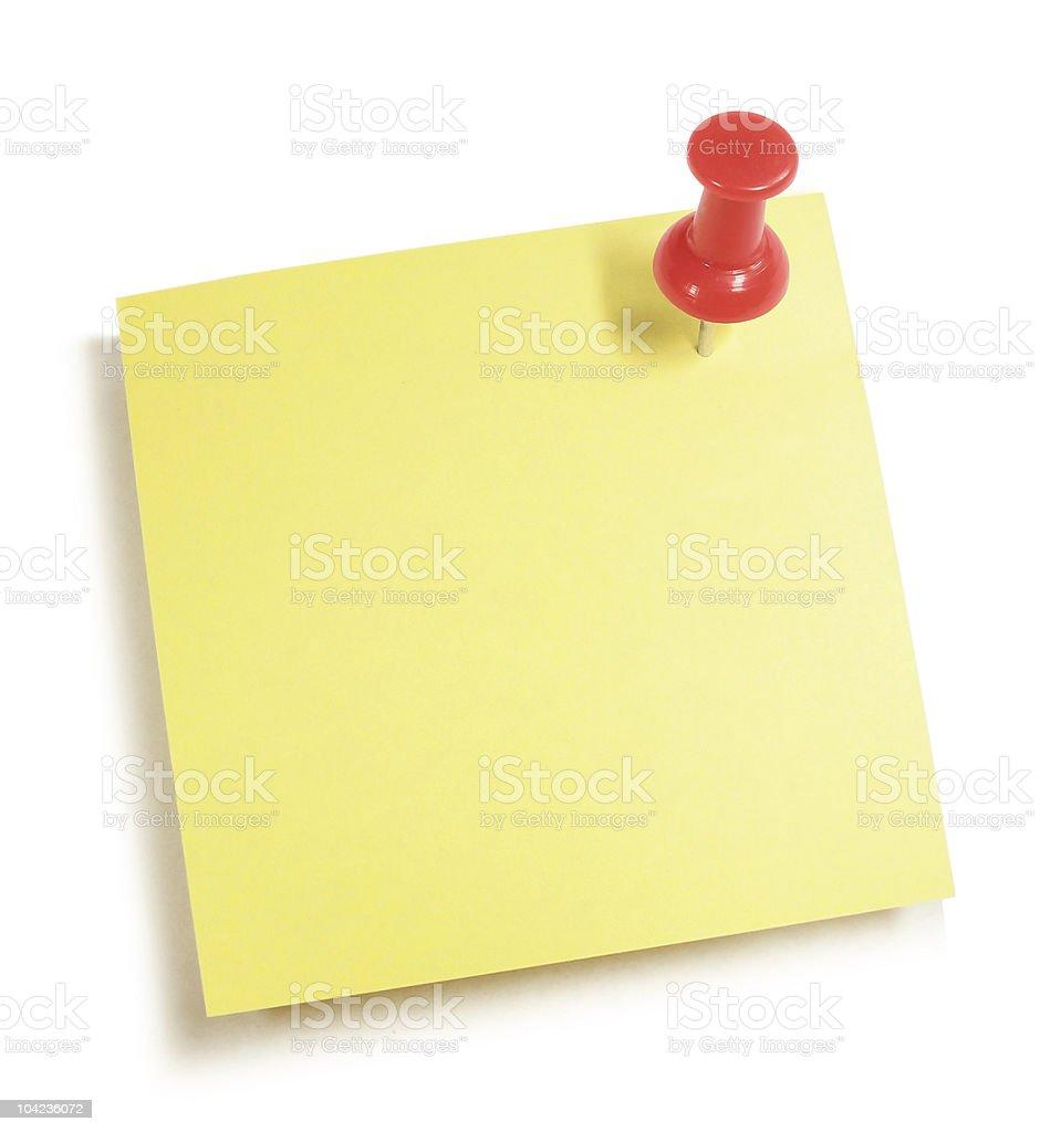Pushpin Note royalty-free stock photo