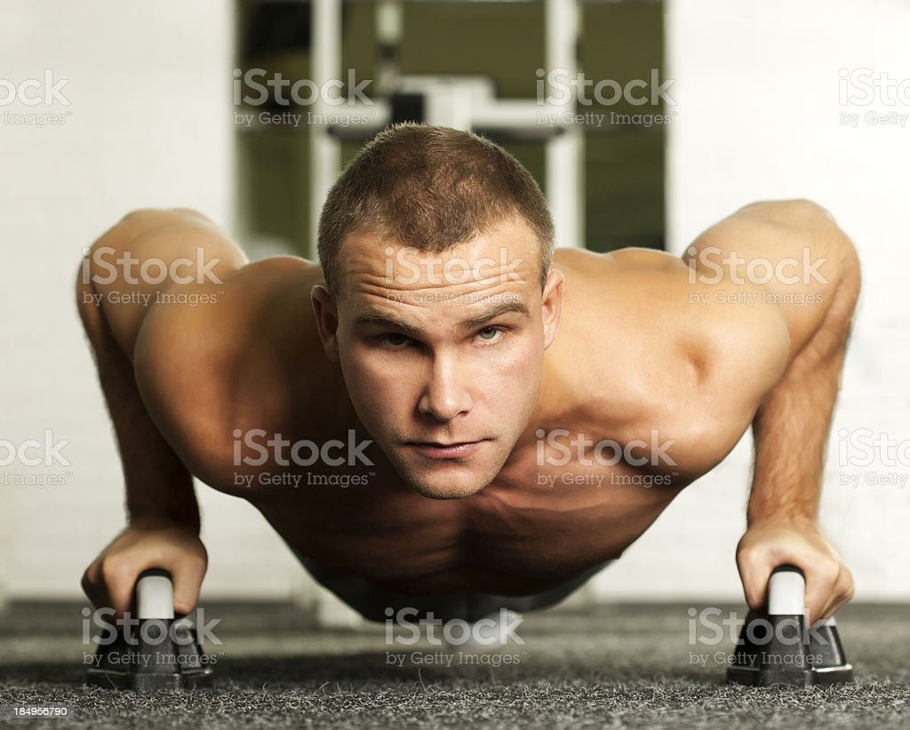 push-ups royalty-free stock photo