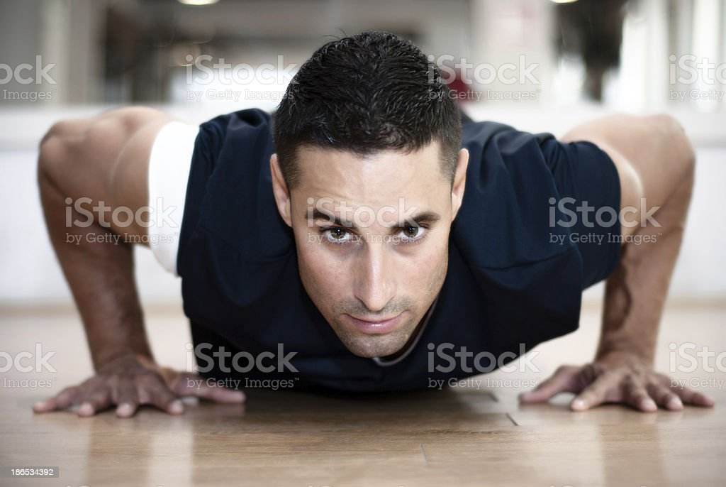Push-ups royalty-free stock photo