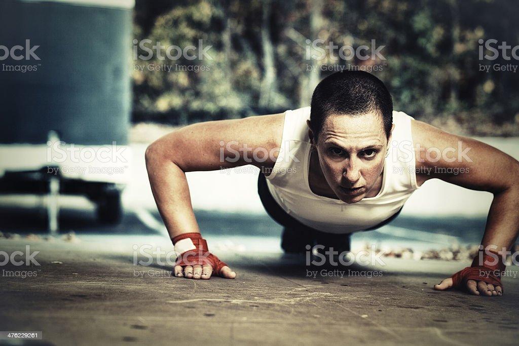 pushups royalty-free stock photo