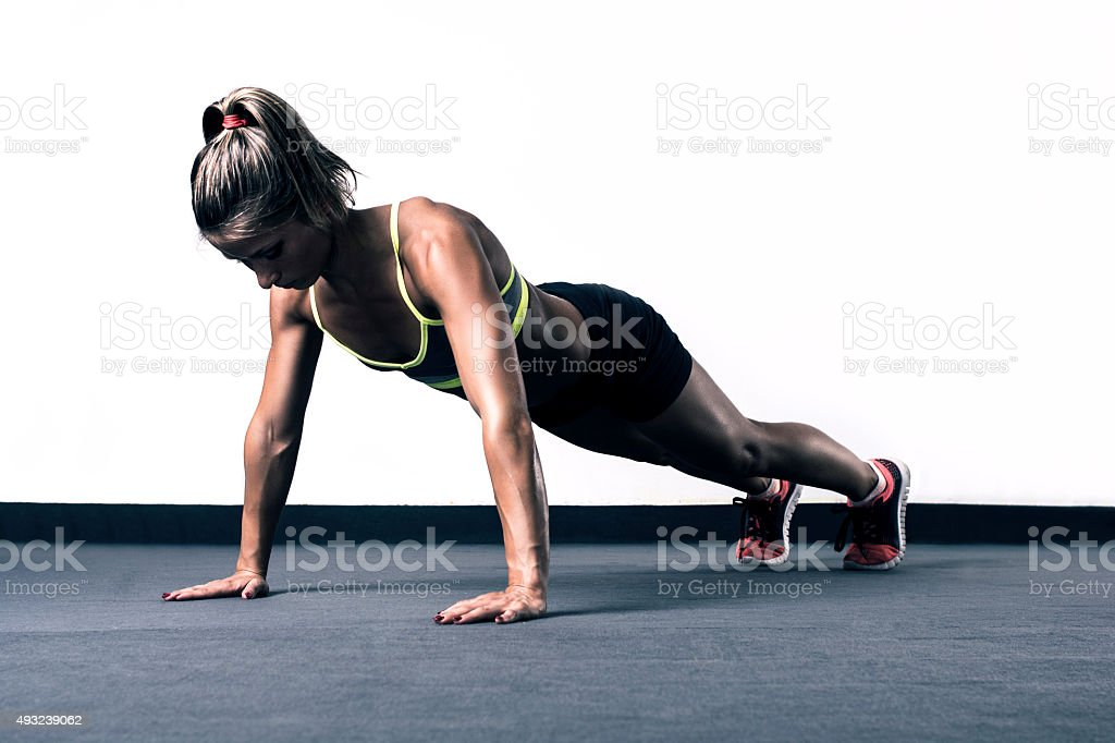 Push-ups stock photo