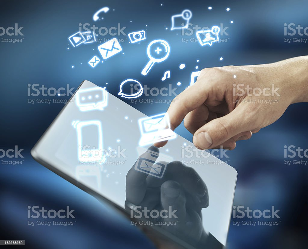 pusning tablet royalty-free stock photo