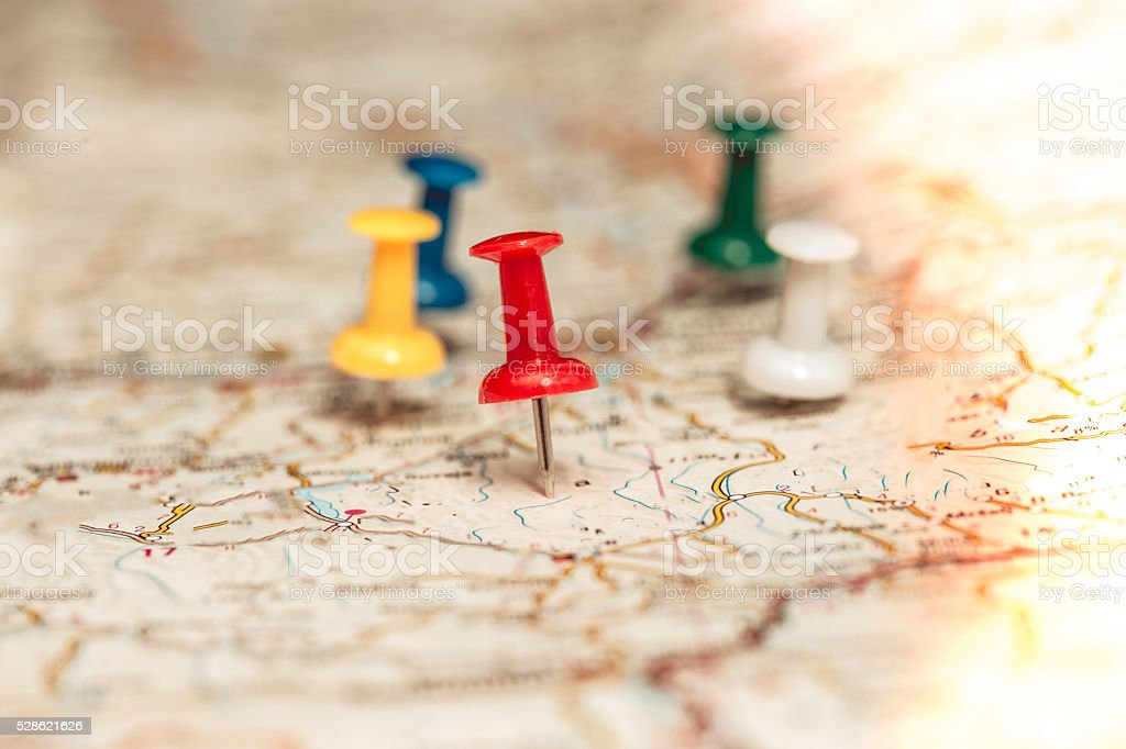 Puspins for travel help stock photo