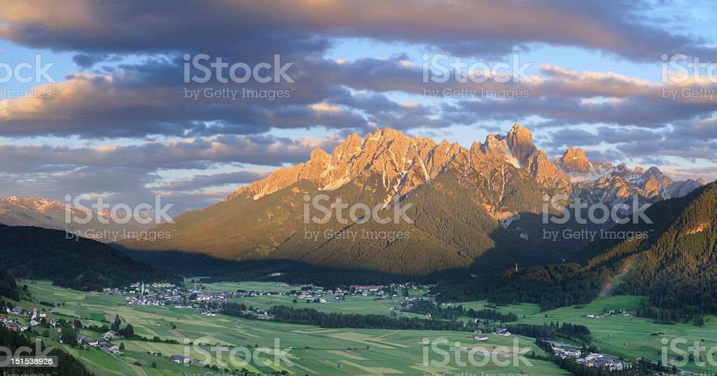 Puster Valley Panorama (Italy) stock photo