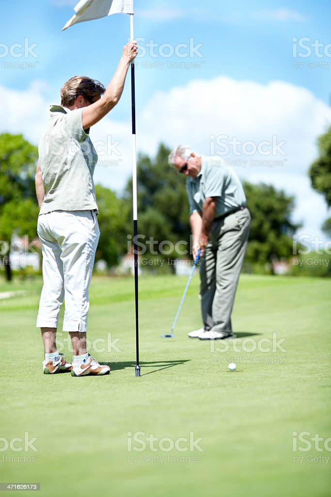 Put for birdie royalty-free stock photo