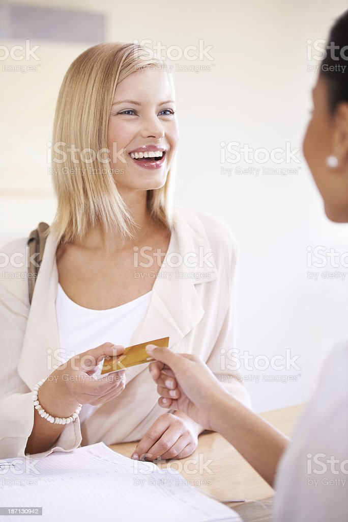Put it to my card royalty-free stock photo