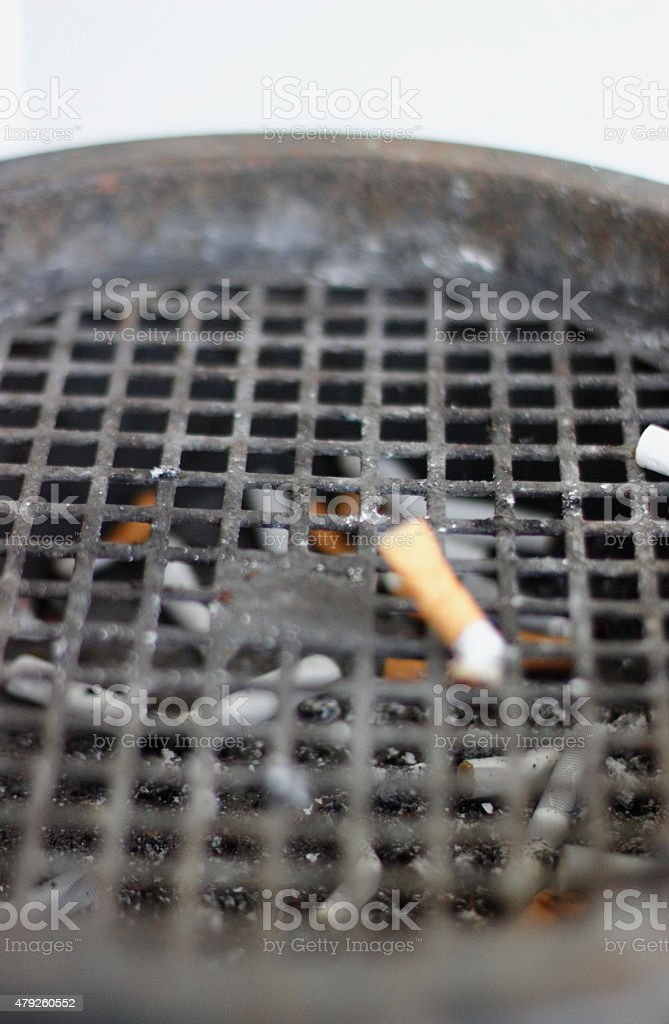 Put out cigarette stock photo