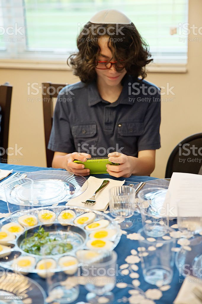Put the phone down at the sedar royalty-free stock photo