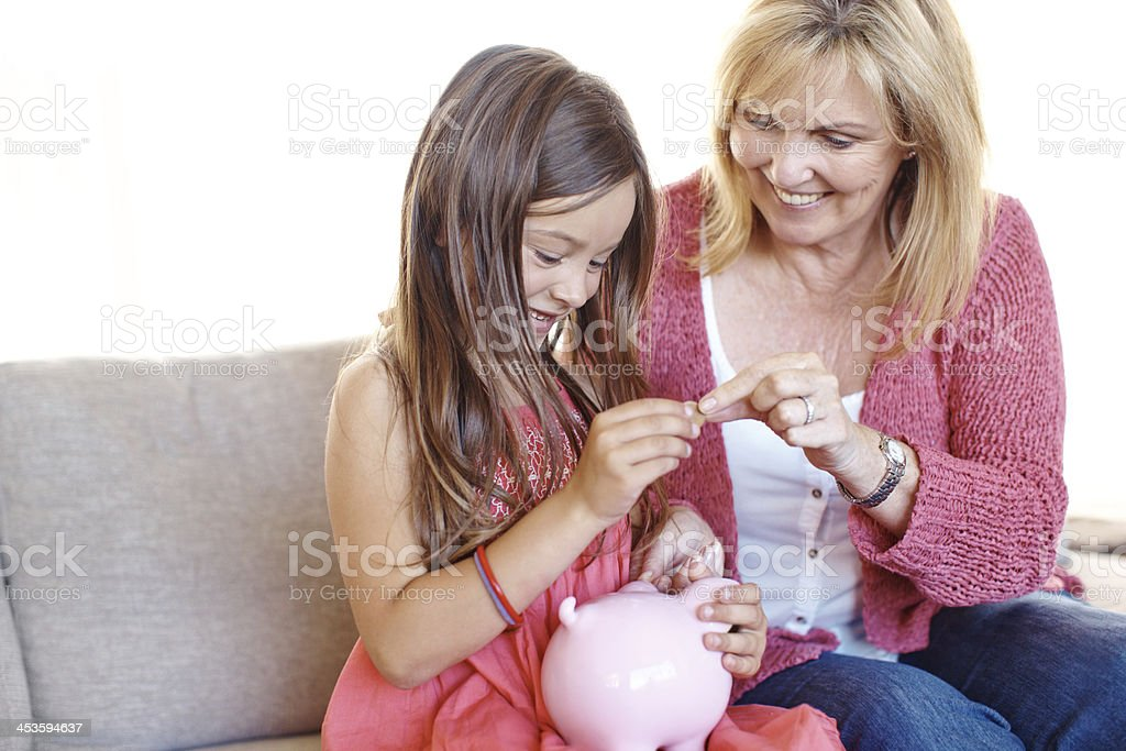 Put this in your piggybank... royalty-free stock photo