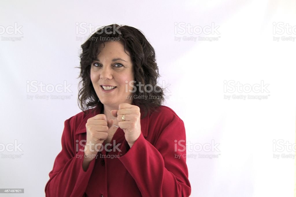 Put up your dukes! stock photo