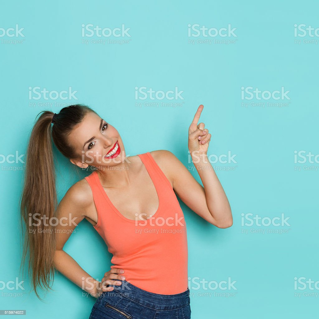 Put Your Ad On Turquoise Background stock photo
