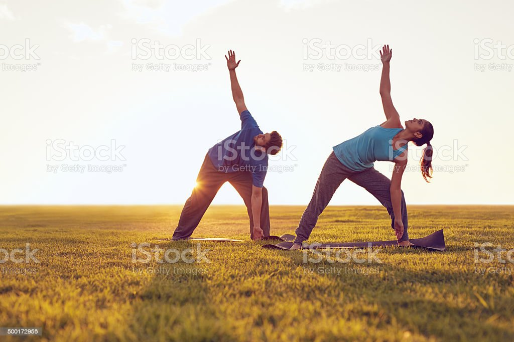 Put your hand up for fitness stock photo