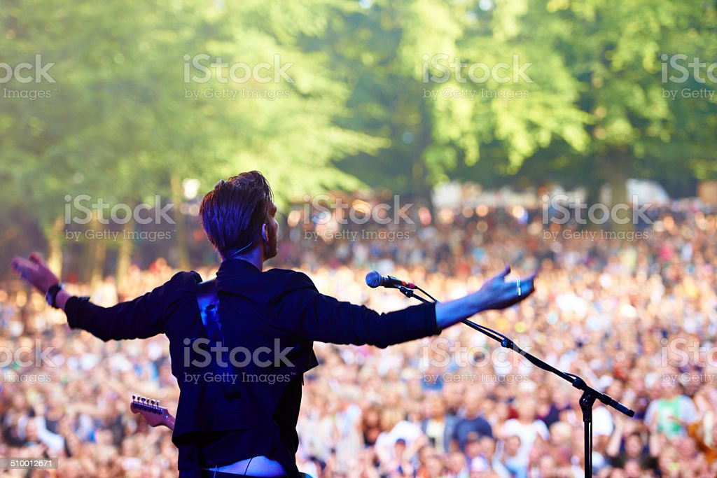 Put your hands together! stock photo
