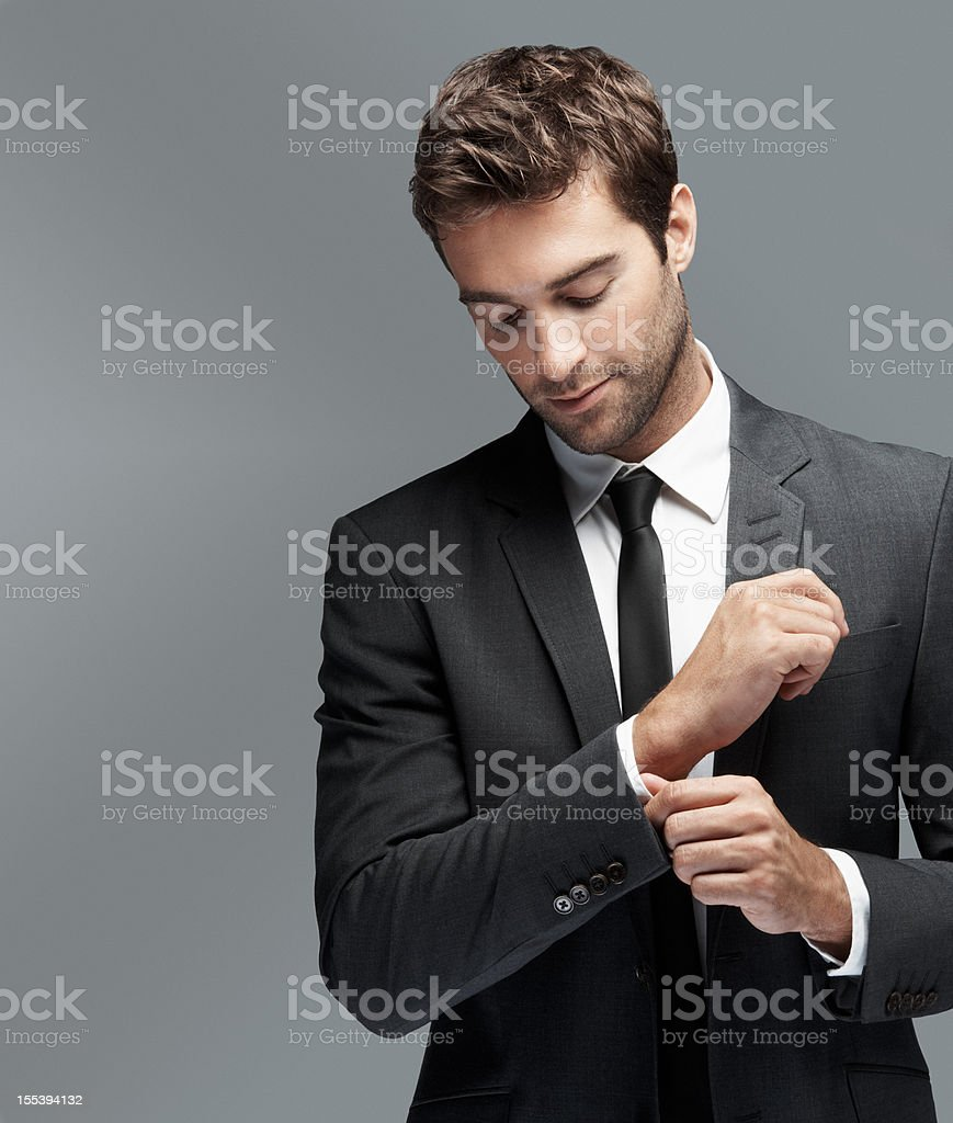 Put your message next to this suave modern man stock photo