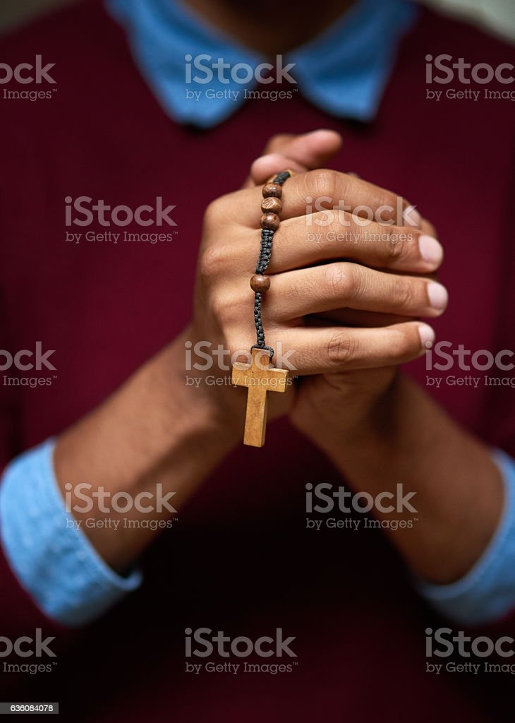 Put your trust in God stock photo