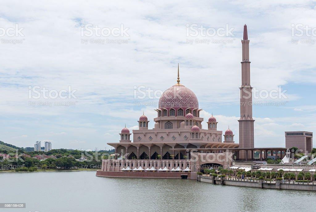Putra Mosque (Masjid Putra) at Putrajaya Malaysia stock photo