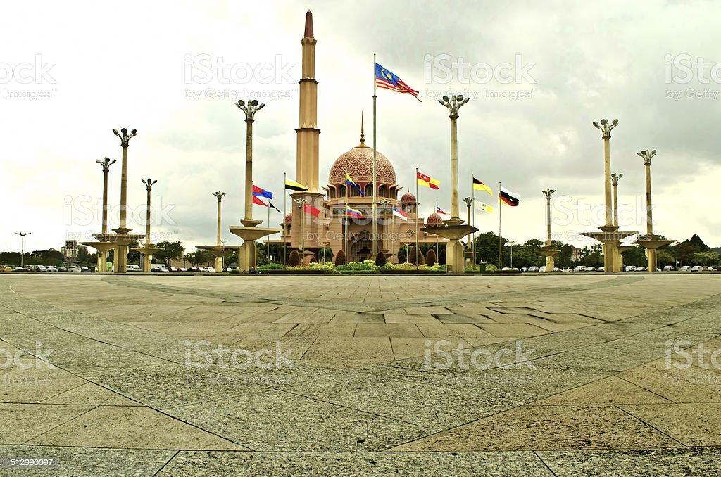 Putra Mosque of Putrajaya, Malaysia stock photo