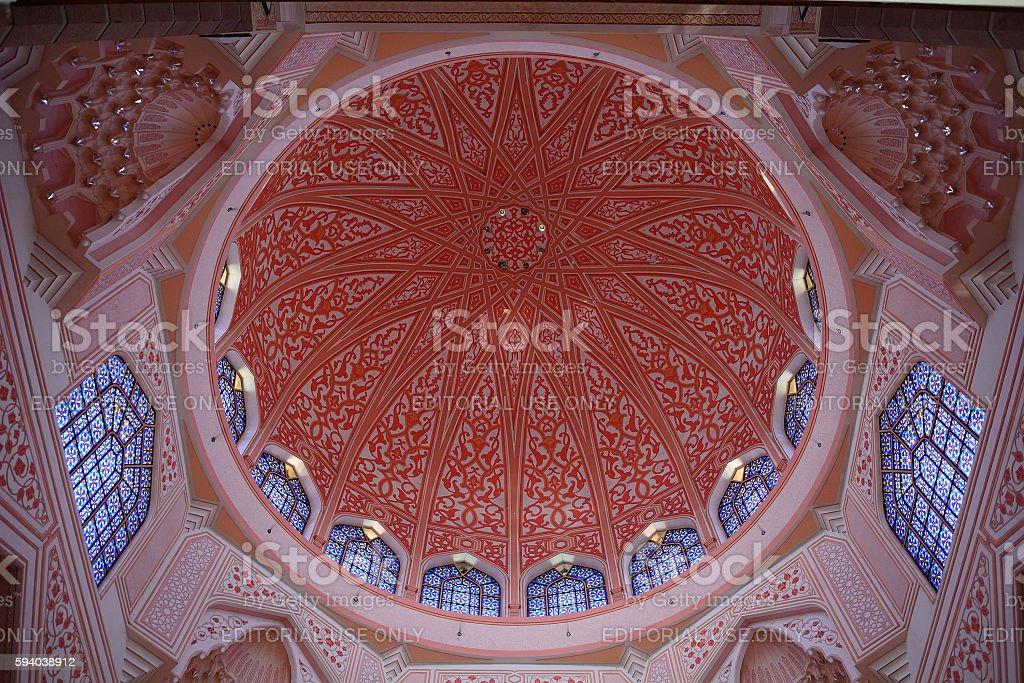 Putra Mosque, Putrajaya, Malaysia stock photo