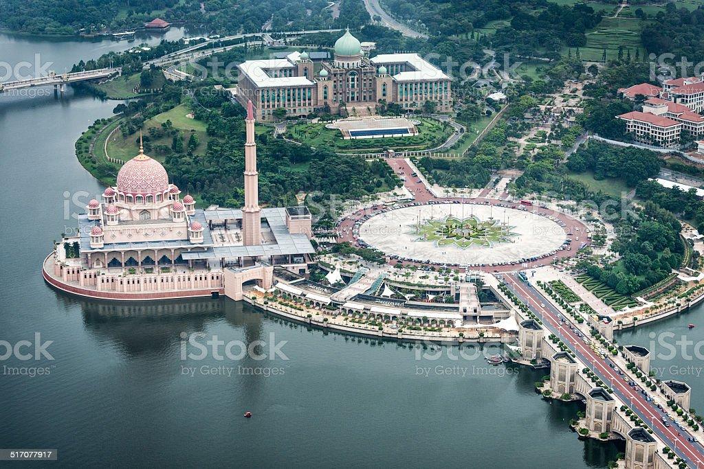 Putrajaya from the air stock photo