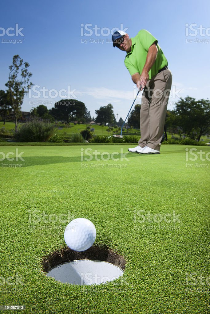 Putt Celebration stock photo