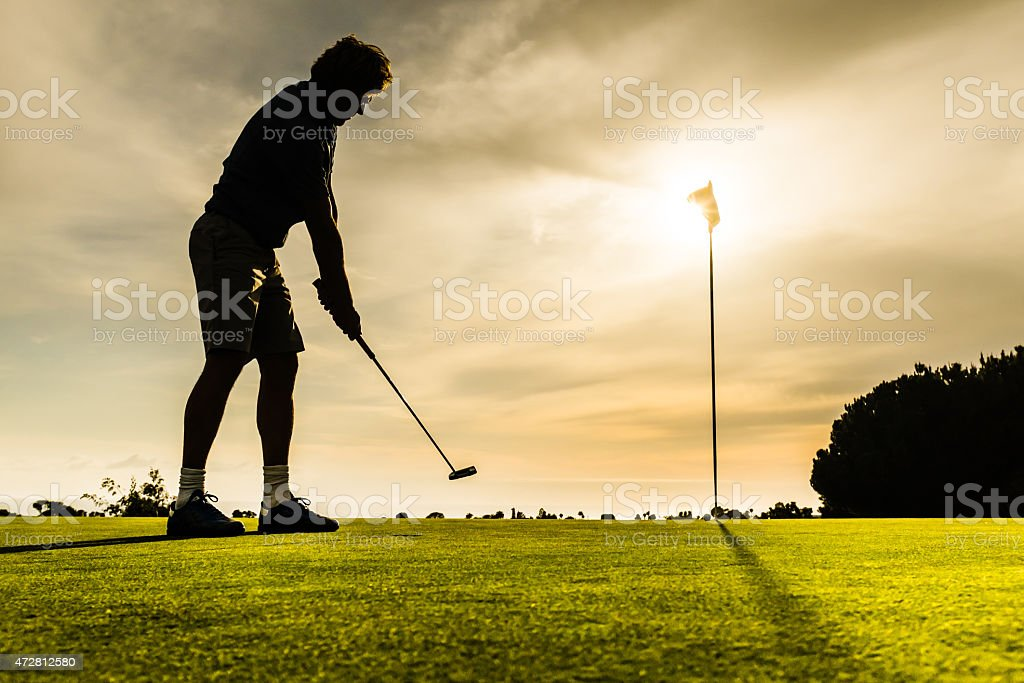 Putter Aiming stock photo