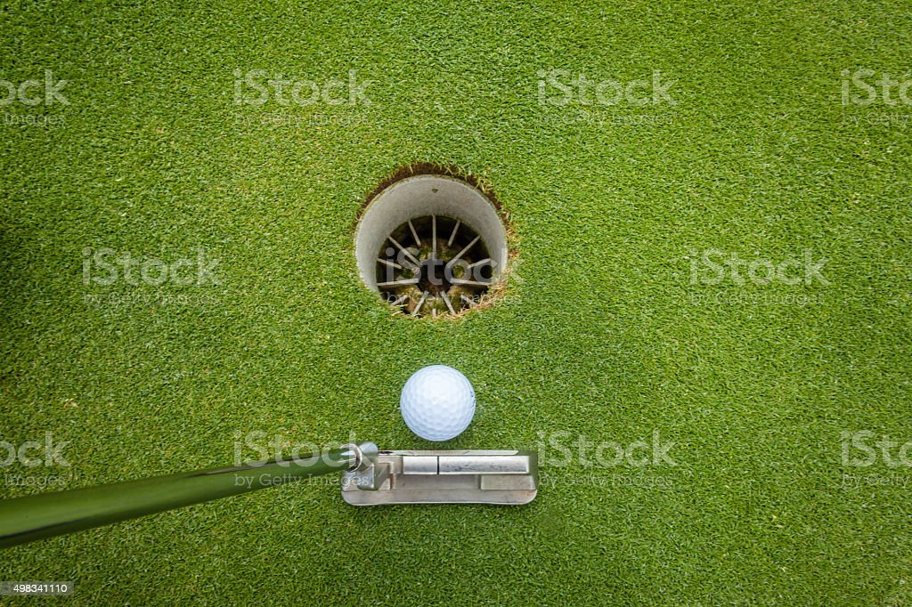 Putter Ball Hole Golf stock photo