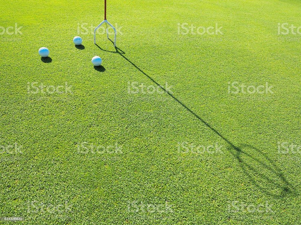 Putter practice field stock photo