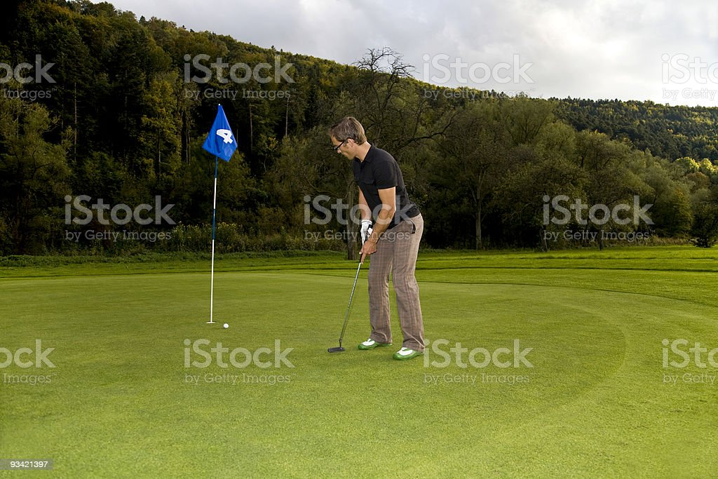 putting ball royalty-free stock photo
