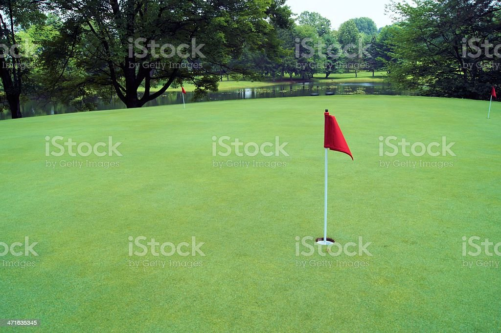 Putting green at golf course. royalty-free stock photo