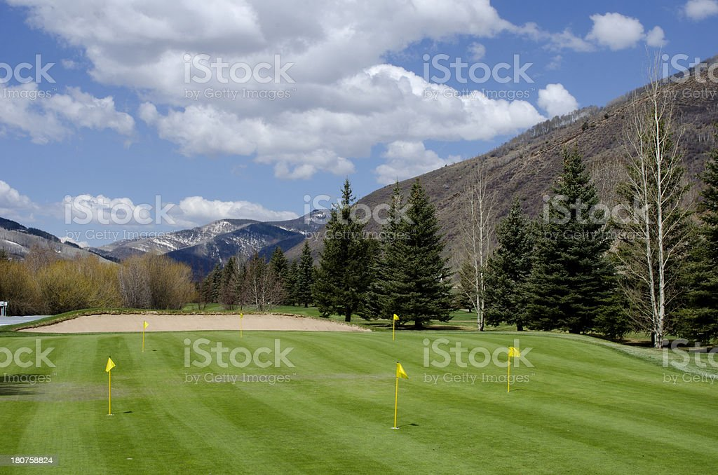 Putting Green at the Vail Golf Course royalty-free stock photo