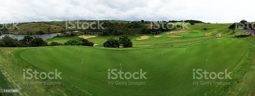 Putting green at Wild Coast Sun royalty-free stock photo