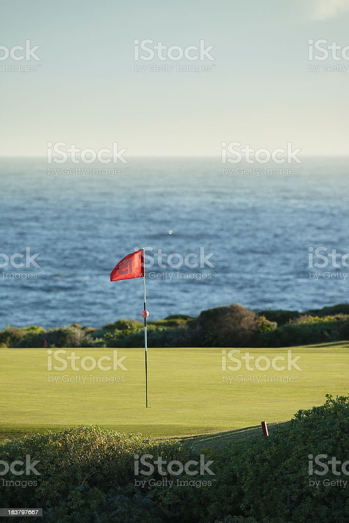 Putting green by the sea royalty-free stock photo