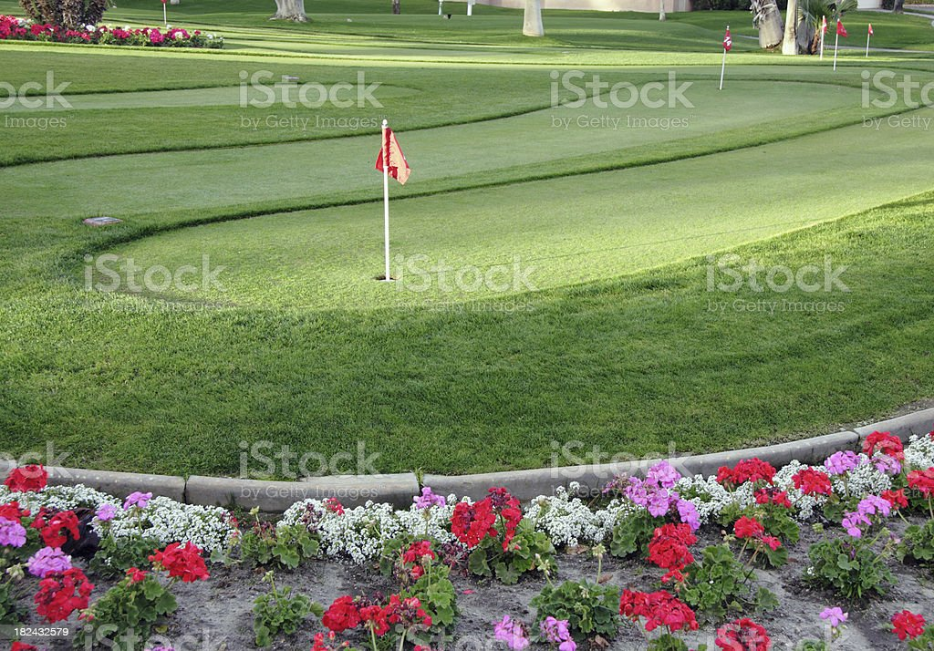 Putting Green stock photo