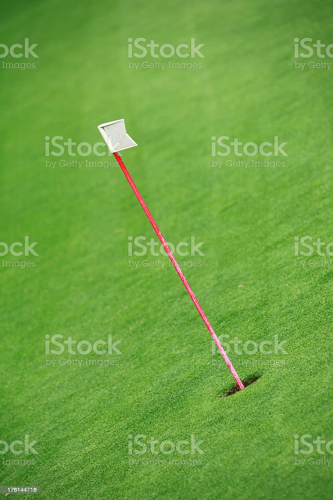 Putting Green Training Flag royalty-free stock photo
