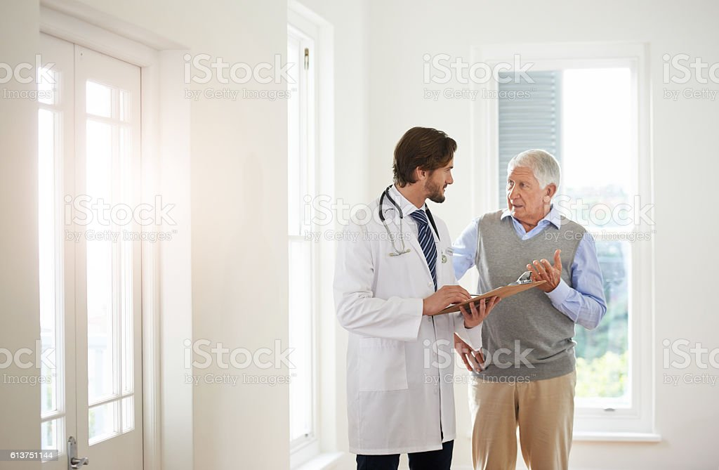 Putting his patients first stock photo