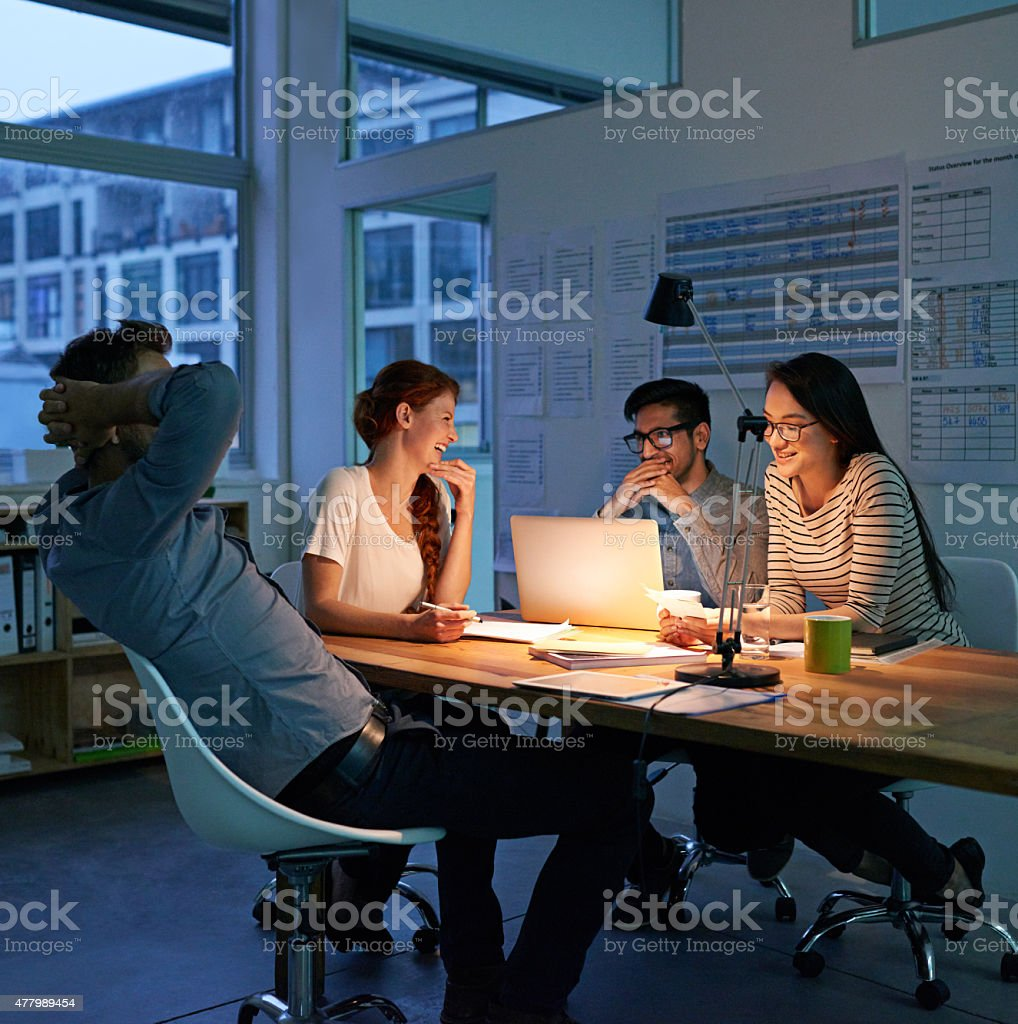 Putting in the work stock photo