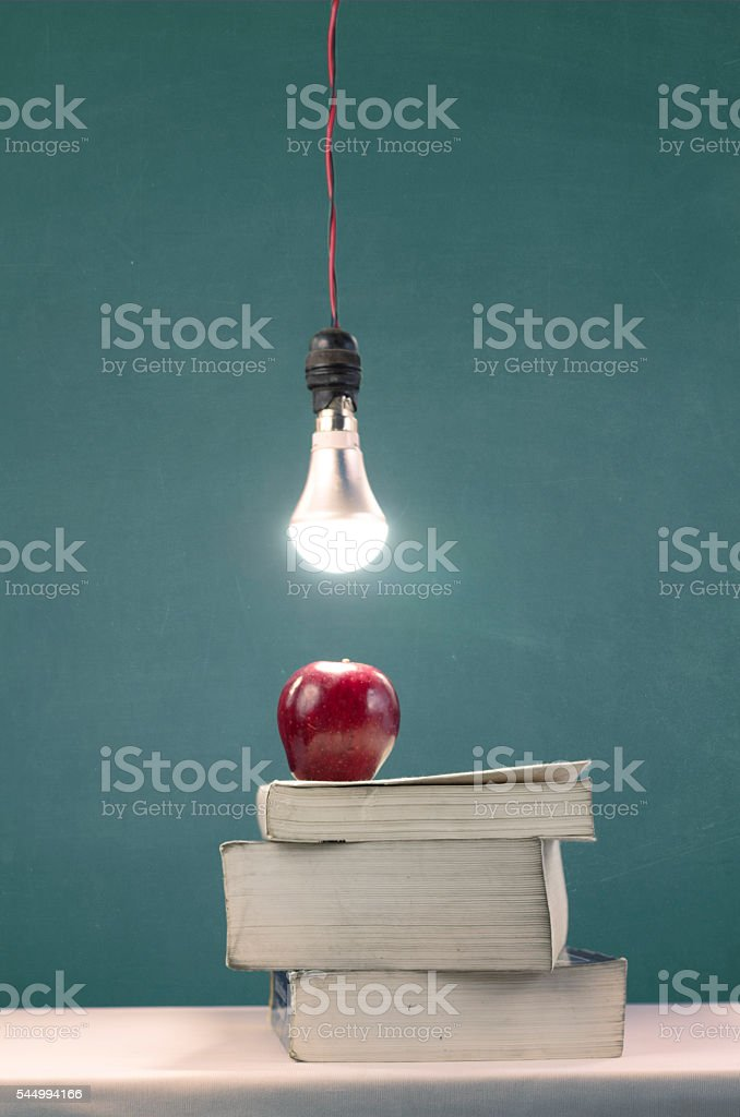 Putting lights on wisdom stock photo