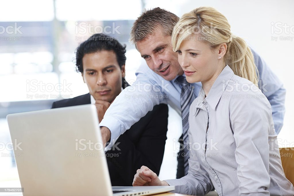 Putting our heads together for revolutionary solutions royalty-free stock photo
