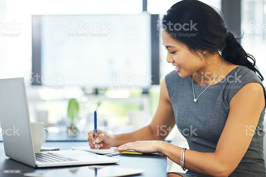 Putting plans into perspective and on paper stock photo