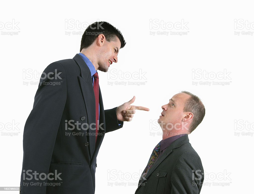 Putting Someone Down royalty-free stock photo