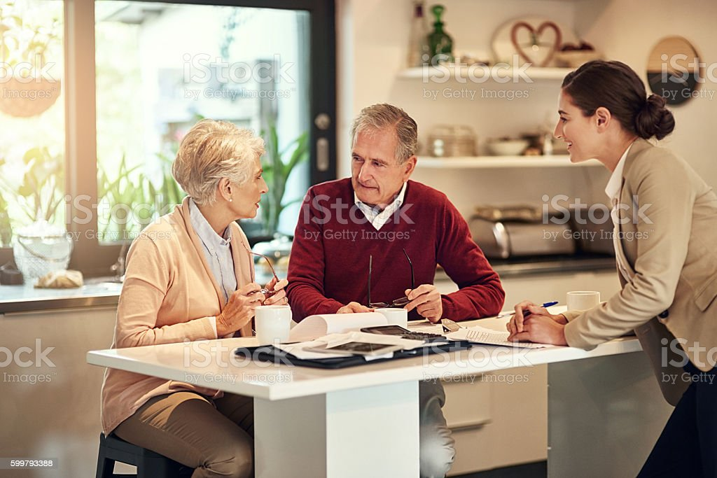 Putting something aside for retirement is an unavoidable necessity stock photo