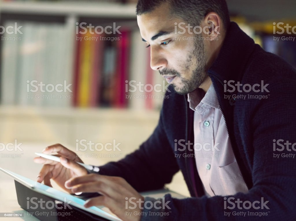 Putting technology at the forefront of his career stock photo