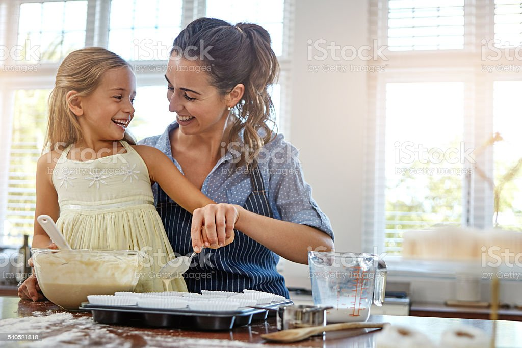 Putting the fun back into baking stock photo
