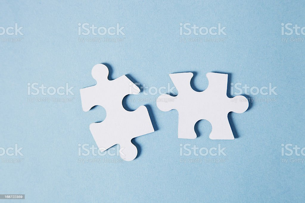 Putting the pieces together royalty-free stock photo