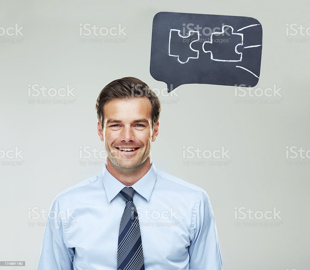 Putting the pieces together! royalty-free stock photo