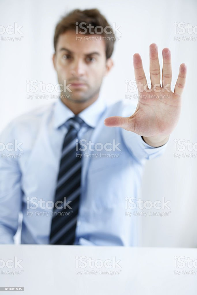 Putting the project on hold royalty-free stock photo