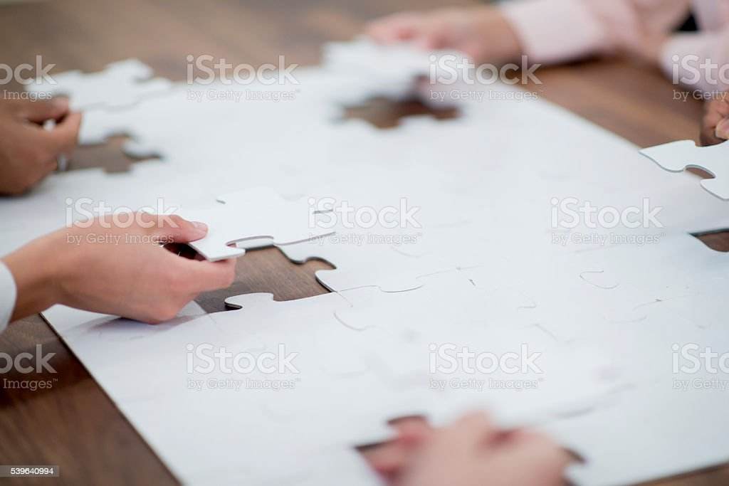 Putting the Puzzle Together stock photo