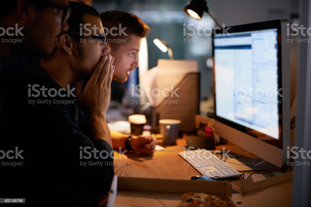 Putting their designing heads together stock photo