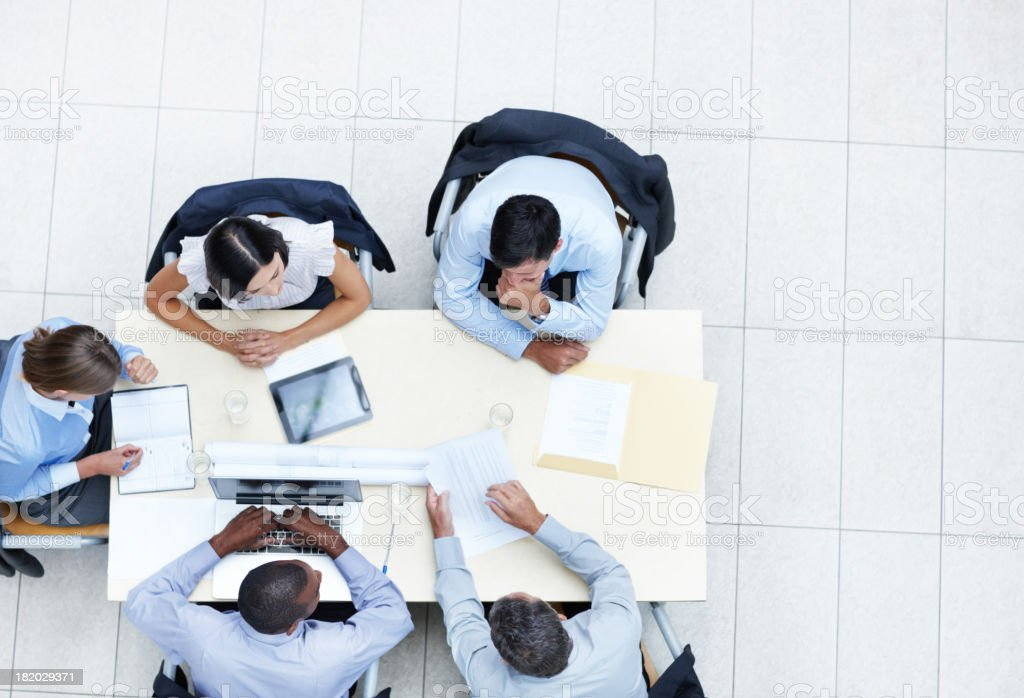 Putting their minds together royalty-free stock photo
